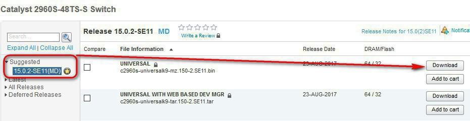 Upgrade IOS in Cisco switches C2960S