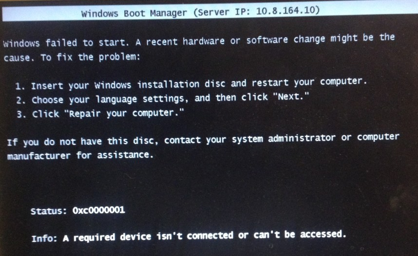 Server 2012 R2 WDS (Windows Deployment Services) error