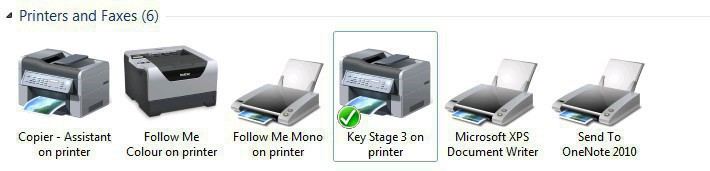 Excel only prints to default printer